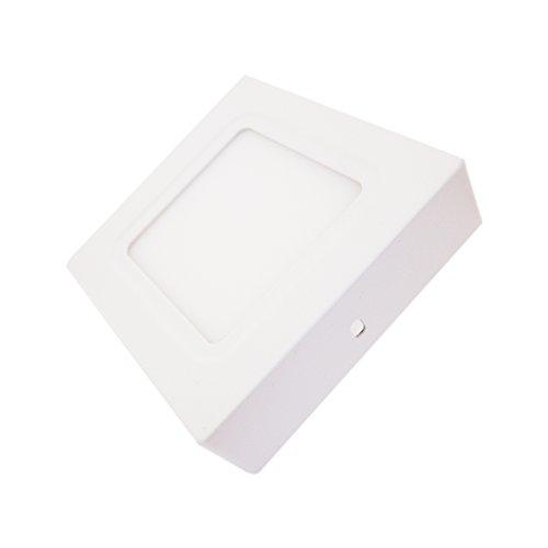 Lumentech LED downlight de superficie, plafón de superficie, cuadrado blanco (6W 6000K)