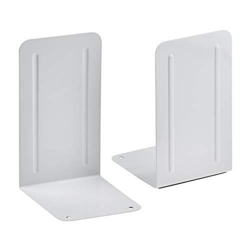 Acrimet Premium Fermalibri Reggilibri Colore Bianco Confezione 2 Unità