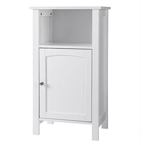 VASAGLE Badezimmerschrank, Badschrank, Standschrank aus Holz, innen mit verstellbarem Einlegeboden, Aufbewahrung für...