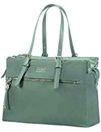 "SAMSONITE Karissa Biz - Shopping Bag 14.1"" Sac bandoulière, 40 cm, 19.5 liters, Vert (Gunmetal Green)"