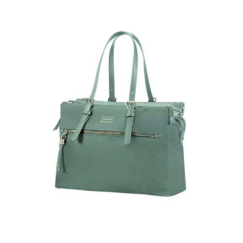 SAMSONITE Karissa Biz - Shopping Bag 14.1 Umhängetasche, 40 cm, 19.5 L, Gunmetal Green