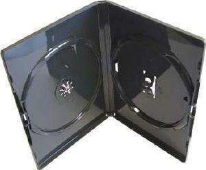 Vision Medien 50 x Amaray DVD Hülle doppelt Schwarz Vision Aufbewahrungsbox