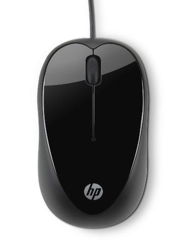 HP X1000 (H2C21AA) Optische Maus mit Kabel (USB 2.0 kompatibel mit Microsoft Windows XP/Windows Vista/Windows 7) schwarz