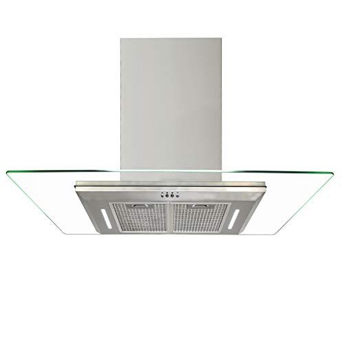 630 m³ h cappa da cucina cappuccio 70 90 CM in vetro piatto in 0f6bfa0ef982