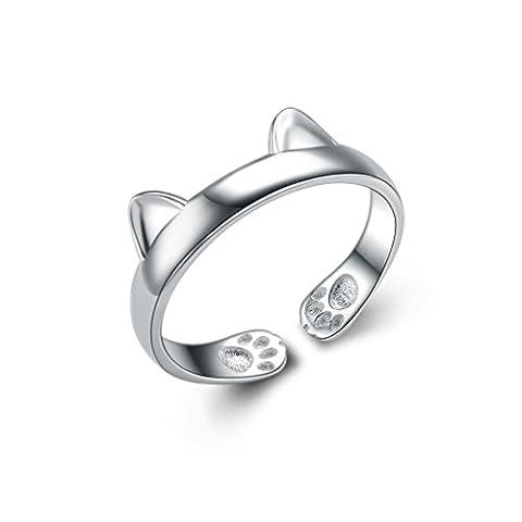 Aristo 925Sterling Silber Feiner Offene Katze Ohren Ring
