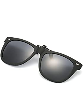 Gafa de Sol Polarizada con Clip de - Gafas Conducción/Golf/y Mucho Más Deportes Exteriores, 100% de Protección...