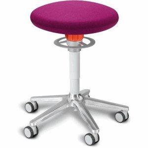 Ongo Sitz- und Stehhocker Roll 54-65cm Flachsitz Kvadrat divina pink/weiß