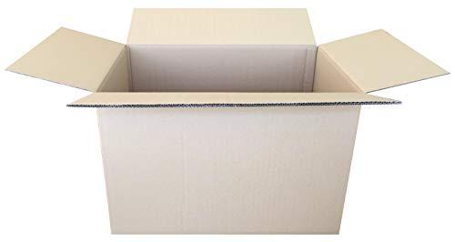 Pack 5 Cajas Cartón Canal Doble Color Marrón. Tamaño