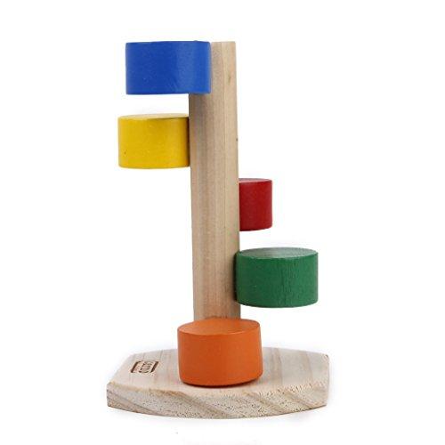 Galleria fotografica Baoblaze 1pcs Scala di Legno del Giocattolo della Scaletta di per Criceti Variopinti