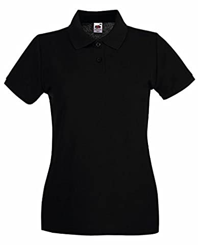 Fruit of the Loom: Lady-Fit Premium Polo 63-030-0, Größe:M (12);Farbe:Black