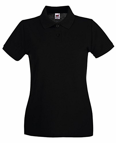 Fruit of the Loom Damen Poloshirt Premium Polo Lady-Fit Black
