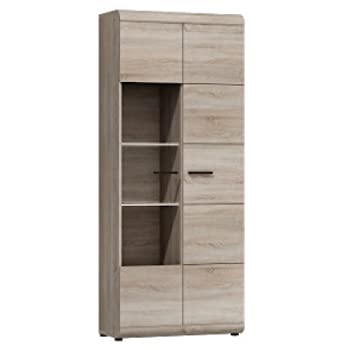 Wall Unit Lucano Furniture for The Living Room with cupboards and LED