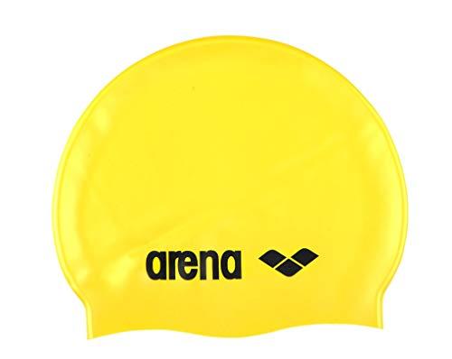 arena Classic Silikon-Badekappe gelb/schwarz