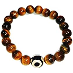 Balaji Tiger Eye With Evil Eye Bracelet Religious Blessing Collection