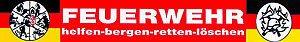 (307785) PST-Schild mit Saugnäpfen - FEUERWEHR helfen-bergen-retten-löschen - Gr. ca. 40 x 6cm (Löschen Aus)