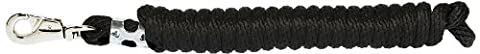 Weaver Leather Poly Lead Rope with Nickel Plated Bull Snap, Black