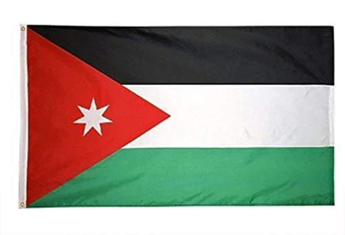 AccessCube Heimdekoration, 100% Polyester, Nationalflagge Bedruckt, groß 3x5 Flag Jordan