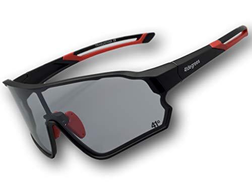 41degrees. Gafas Deportivas Fotocromaticas con 2 Lentes Intercambiables.Hombre o mujer. Gafas de Sol Polarizadas UV400 para Running, Ciclismo o Esquí. Máscara Unisex Modelo Tramuntana