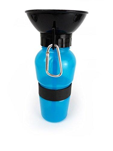 TrendMonkey | Der mobile Wassernapf für alle Hunde | 600ml Hund Trinkflasche mit patentiertem Rücklaufventil