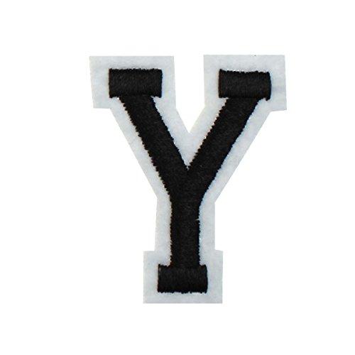 Rechere Patch à repasser 26lettres de l'alphabet brodées en majuscules Y
