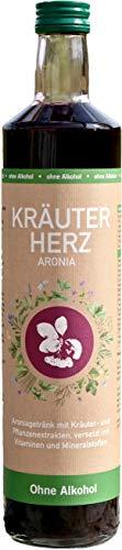 BIO Aroniasaft mit 40 Kräutern, 750ml, starkes Immunsystem, Kur, Superfood, hergestellt in Bayern - Zitronenverbene, Lavendel Und Thymian