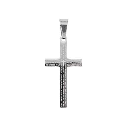 °* Halskette mit Kreuz-Anhänger und Text