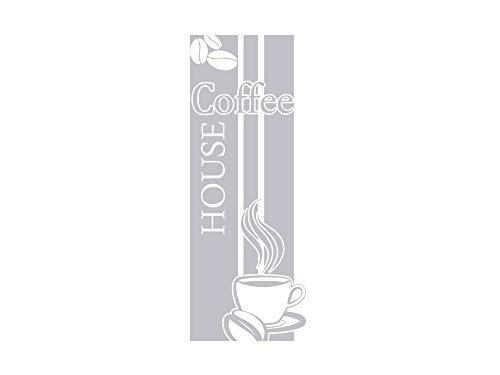 GRAZDesign 980239_40 Fenstertattoo Spruch Coffee House mit Tasse   selbstklebende Fensterfolie für...
