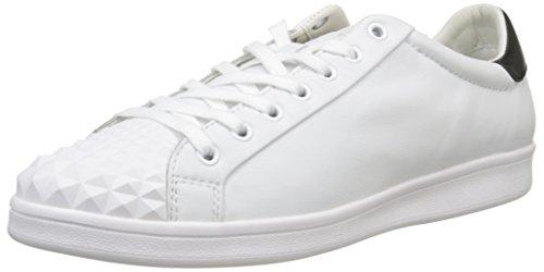 GeoxU Warrens C - Scarpe da Ginnastica Basse Uomo , Bianco (Blanc (C0404)), 42