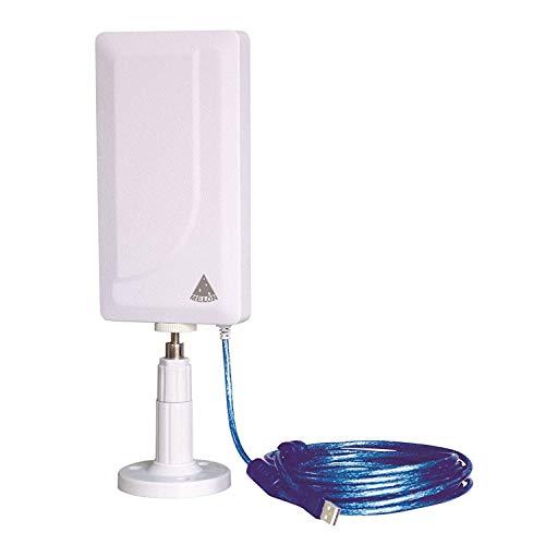 MELON N89 Antena wifi exterior e interior 2000mw + 24 dbi 10 metros usb. Receptor inalámbrico externo con módulo wireless Ralink RT3070. Compatible auditoria, wifislax, beini, backtrack.