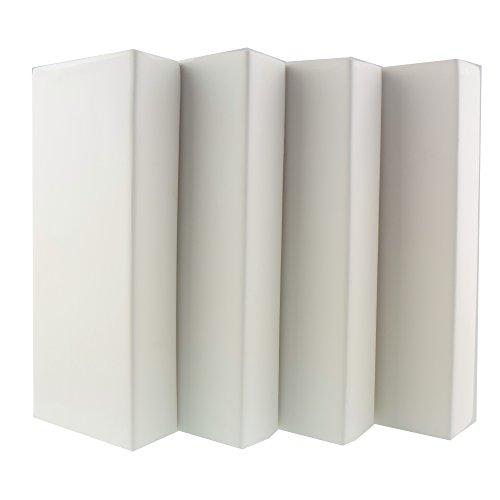 4 x Luftbefeuchter Heizung je 280 ml Verdunster für Heizkörper aus Keramik Vintage neutral