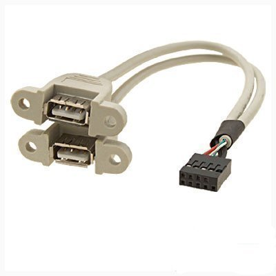 sourcingmap® USB 2,0 femmina 2 porte pannello posteriore a USB cavo collettore scheda madre