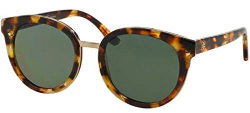 Tory Burch Sonnenbrillen TY 7062 Blonde Havana/Green Damenbrillen (Burch Sonnenbrille Tory)