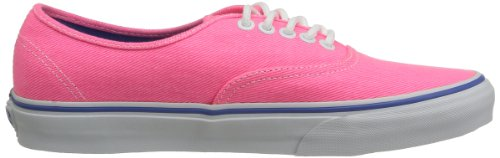 Vans U Authentic, Baskets mode mixte adulte Rose (Washed Twill P)