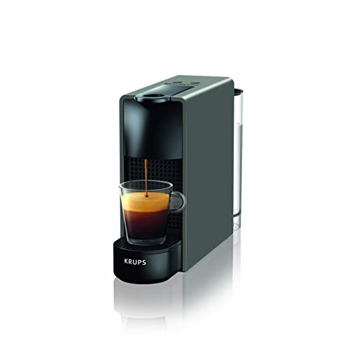 Nespresso Cafetera Intenso Krups Essenza Mini XN110B - Cafetera Nespresso de cápsulas de 19 bares con 2 programas de café, tamaño ultracompacto y función de autoapagado, color gris