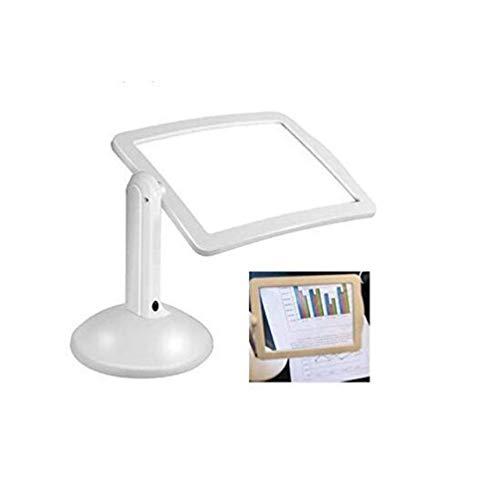 ZGHOME Drehbare Natürliche Leuchtstofflampe, Desktop-Lupe, Lupe Mit LED-Licht, 360 ° Flexible Halterung, Lesebrille Geschenk (Led-desktop-lupe)