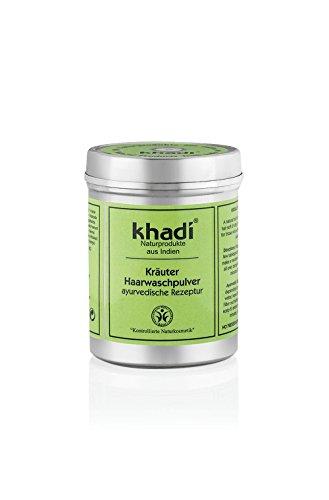 Khadi Kräuter Wasch-Pulver 150g I Ayurvedisches Kräuter-Pulver I Haarwäsche und Conditioner I...