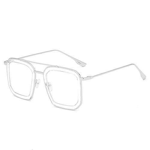 Big Frame unregelmäßige Sonnenbrille Mode Damen Sonnenbrille transparent one size