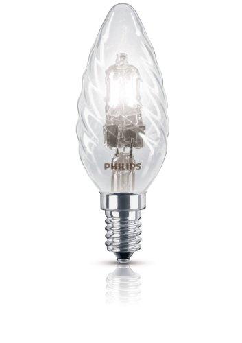 Philips Ampoule EcoHalogène Flamme Torsadée Culot E14 42 Watts consommés Equivalence incandescence : 55W