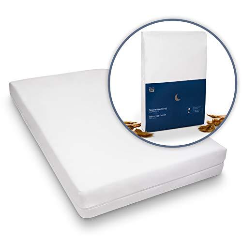 Blumtal Matratzenbezug für Allergiker, Milbenbezug - Matratzenschutz, atmungsaktiv, 90x200cm, 2er Set