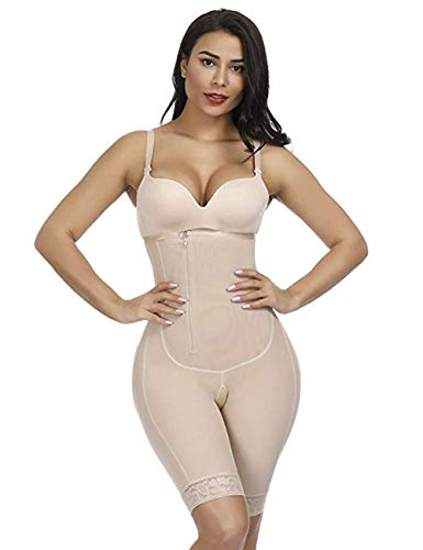 FeelinGirl Damen Shapewear Figurformender Formende Bodys Taillenformer Shaping Bodysuit mit Haken