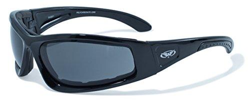 Global Vision Eyewear Schwarz Rahmen triumphierend Sicherheit Gläser, Smoke -