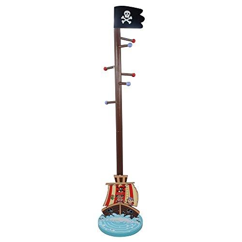 Perchero infantil de madera con diseño de piratas deFantasy...