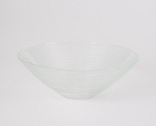 INNA Glas - Coupelle ronde en verre LINUS, transparent, 7 cm, Ø 20 cm - Coupelle dessert / Coupelle décorative