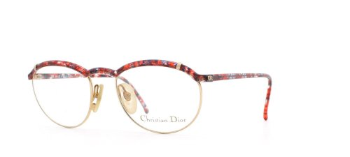 Christian Dior Damen Brillengestell Rot Rot/Schwarz