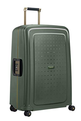SAMSONITE S\'Cure Dlx Spinner 75 Koffer 75 cm, 102 L, Dark Green Gold Deluscious