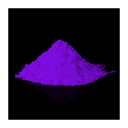 Pigmenti luminescenti professionale, Polvere fosforescente, Colore fluorescente (fotoluminescenza, non tossico, Strontium Aluminate) (40 g, lilla)