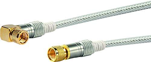 Schwaiger 90° Winkelstecker verkürzt zu lange Kabelbögen und vermeidet das Abknicken von Kabeln