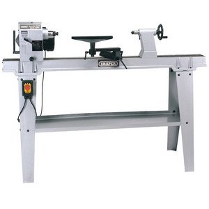 Draper 63938 230-Volt 550-Watt Variable-Speed Wood Lathe with Stand Test