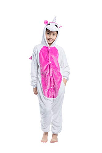 Hstyle Kinder Outfit Einhorn Kigurumi Pyjamas Kinder Cosplay Kostüm Onesies Rosa