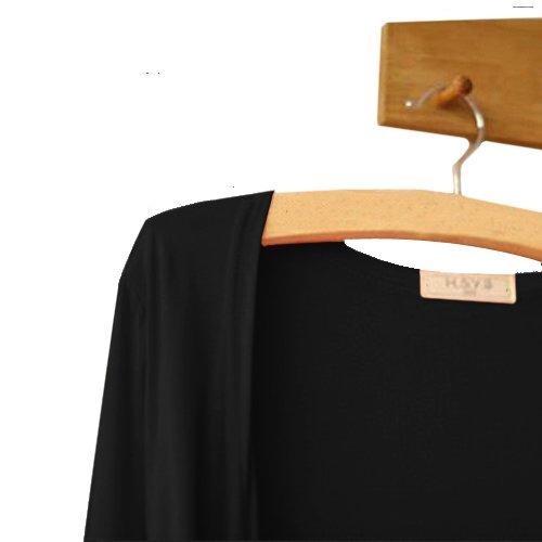 Cardigan à Manches Longues Ultra doux Classique à Manches Longues et Manches Longues Black